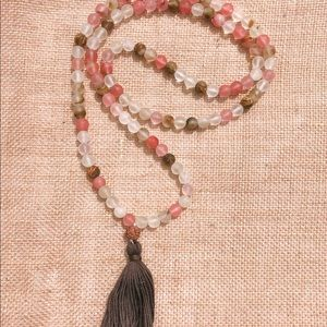Strawberry Quartz Mala- 108 beads